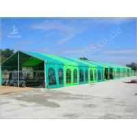 Wholesale Green Warehouse Fabric Tent Structures Clear Span Marquee Canopy 10M x 51M from china suppliers
