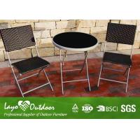 Wholesale Modern Backyard Patio Furniture Table And Chairs , Garden Furniture Bistro Set Various Color from china suppliers