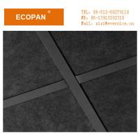 Wholesale 600 * 600mm Black Square Edge Soundproof Decorative Drop Ceiling Tiles , 25mm Thickness from china suppliers