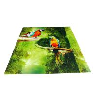Quality Parrot Pattern Green Plastic Commercial Ceiling Panels No Cracking for sale