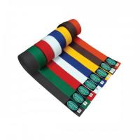China Customized Black , Red , Orange Judo  Belt color belts in martial arts on sale