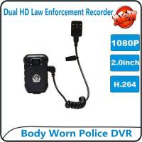 Wholesale 1080P Body Worn Police DVR Camera IP56 Waterproof Law Enforcement Audio Video Recorder from china suppliers