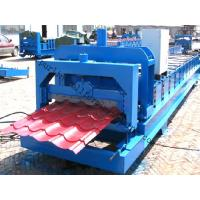 Wholesale Color Steel Glazed Tile Roll Forming Machine with PLC Computer Control to Europe from china suppliers