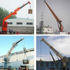 Quality Hydraulic deck mounted crane , Marine jib crane for sale