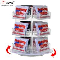 Wholesale Custom Rotating Counter Display Racks , Acrylic Business Card Display Holder 3 - Layer from china suppliers