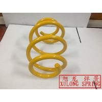 yellow powder coated Barrel Spring made by xulong spring factory