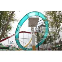 Wholesale Aqua Park Equipment Fiberglass Pool Slide With Galvanized Carbon Steel Frame for Outdoor / Indoor Water Park from china suppliers