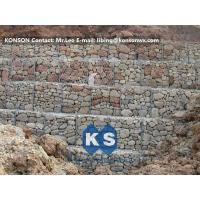 Wholesale Hexagonal Wire Mesh Gabion Retaining Wall with Polyethylene PE Coated Gabion Wire from china suppliers
