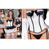 Wholesale Sophisticat Cat Corset Party Adult Costumes Woman Sexy White Black For Holiday from china suppliers