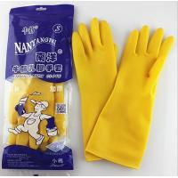 Wholesale ISO/CE approved Colorful Flock lined latex household gloves/rubber kitchen cleaning glove from china suppliers