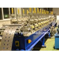 Wholesale Customized Voltage C Channel Roll Forming Machine With Hydraulic Punching Press from china suppliers
