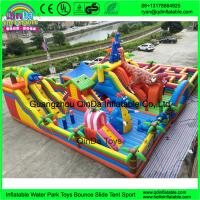 Buy cheap Hot Sale Cartoon inflatable big fun city for sale, commercial Mega inflatable playground, inflatable amusement park from wholesalers