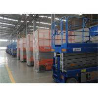 Raised 6m Self Propelled Hydraulic Scissor Lift Control Panels Top Floor Equipped