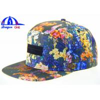 Wholesale Custom Fashion Wholesale 5 Panel Camp Cap / Snapback Caps With Leather Patch from china suppliers