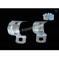 Wholesale 1/2 - 4 Inch ,  IMC Conduit And Fittings  Zinc Plated Steel conduit strap  / One Hole Conduit Pipe Clamp from china suppliers
