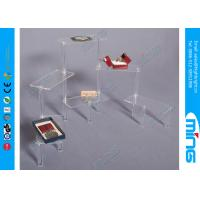 Buy cheap Plex Risers Rectangular Clear Acrylic Display Stands with Free Logo from wholesalers