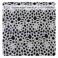 Wholesale Antique Stretch Polyester Lace Fabric / Dressmaking Fabric With White Flower from china suppliers