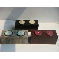 Wholesale Antique Imitation Coloured Wooden Tealight Candle Holders For Drawing Room from china suppliers