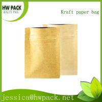 Wholesale brown kraft paper zipper sachets from china suppliers