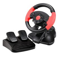Quality FUTIME game steering wheel racing wheel with foot pedal for PC + X-INPUT + PS2 + PS3 for sale