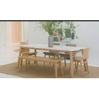 Wholesale Modern Fresh Style Walnut Dining Table And 6 Chairs With Solid American White Oak from china suppliers