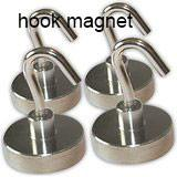 Buy cheap Super strong pot holding ndfeb magnetic hook N35 magnet grade from wholesalers