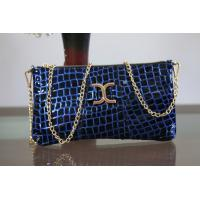 Wholesale first layer patent leather evening bags with metal strap from china suppliers
