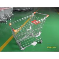 Wholesale Retail Store Steel Wheeled Shopping Cart 180 L Basket Bottom Rack from china suppliers