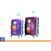Wholesale Hard Shell 4 Wheel Travel Luggage Cases , Custom Purple Lightweight Suitcases from china suppliers