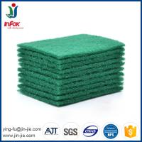 Quality INFOK heavy duty abrasive nylon green kitchen cleaning scouring pads for sale