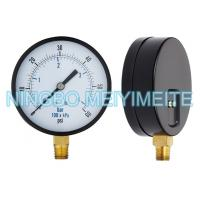 Wholesale Steel / Brass Pressure Gauge With Screws In The Bezel 100mm 1/4 Inch Connector from china suppliers