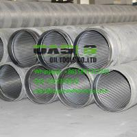 Wholesale stainless steel continuous slot wire wrapped water well screens China Supplier from china suppliers