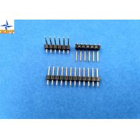 Wholesale 2.54mm pitch single row pin header vertical male connector for female crimp connectors from china suppliers