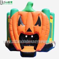 Wholesale Halloween Inflatables Giant Pumpkin Kids Bounce House Double / Quadruple Stitching from china suppliers