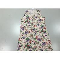 Wholesale Summer Floral Printed Sleeveless 100% Cotton Pajamas For Women / Ladies from china suppliers