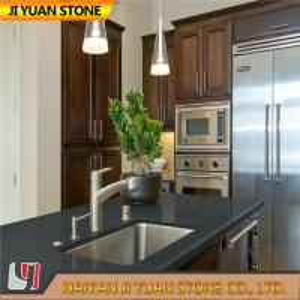 Quality Dark Grey Artificial Quartz Kitchen Worktops Counter Vanity Table for sale