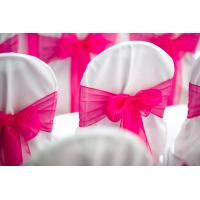 Wholesale chair cover with ribbon from china suppliers