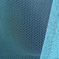 Wholesale 50D 30A 100% polyester White pink blue color hexagonal mesh cloth mosquito netting fabric from china suppliers