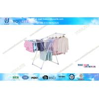 Wholesale Baby Cloth Wing Type Stand Folding Clothes Rack / Steel Pipe Clothing Drying Hanger from china suppliers
