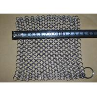 "Wholesale 7''*7"" SS Chainmail Cast Iron Scrubber / Cleaner , Polishing Surface Treatment from china suppliers"