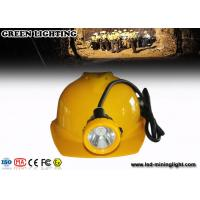 Wholesale Hard Hats Mining Cap Lights , 12000lux Cordless Led Mining Cap Lamp Ultra Bright from china suppliers