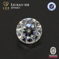 Buy cheap wholesale prices 8mm white round cut 9 heart 1 flower cubic zirconia gemstones from wholesalers