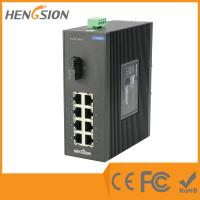 Wholesale 8 Port + 1 Port Industrial Dinrail Outdoor Network Switch 154*128.5*58mm from china suppliers