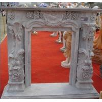 Wholesale Large Decoration Flower Stone Fireplace Outdoor from china suppliers