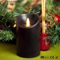 Wholesale Multi - Colored Led Black Pillar Candles with Real Flame for Home Decor from china suppliers