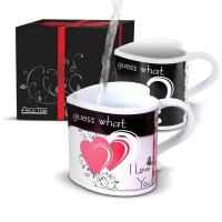 Wholesale 280ml Ceramic coffee mugs for couples / create heart shaped handle mug from china suppliers