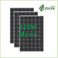 Wholesale Class II Safety 220W Monocrystalline Solar Panels for Solar Power System from china suppliers
