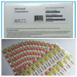 Quality PC / Computer Microsoft Windows 10 Pro 32/ 64 Bit OEM Key Dvd Box 100% Genuine for sale
