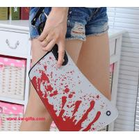 Wholesale Fashion Designer Clutch Women Clutch PU Creative Rock Punk Blood Kitchen Knife Handbags from china suppliers