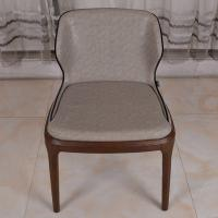 Wholesale PU Leather Dark Grey Restaurant Furniture Modern Dining Chair with Solid Wood Leg from china suppliers
